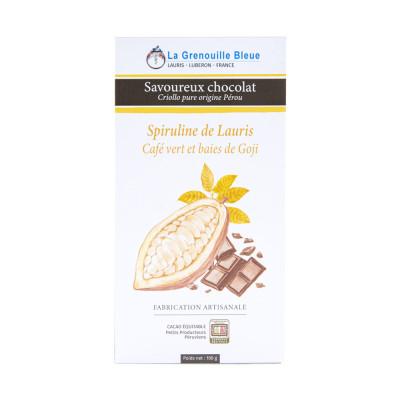 Chocolat Spiruline, Goji et Café vert