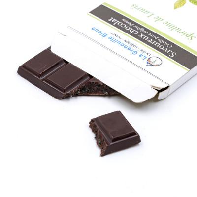 Chocolat à la spiruline de Lauris